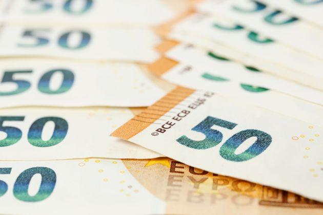 macro of fifty euro