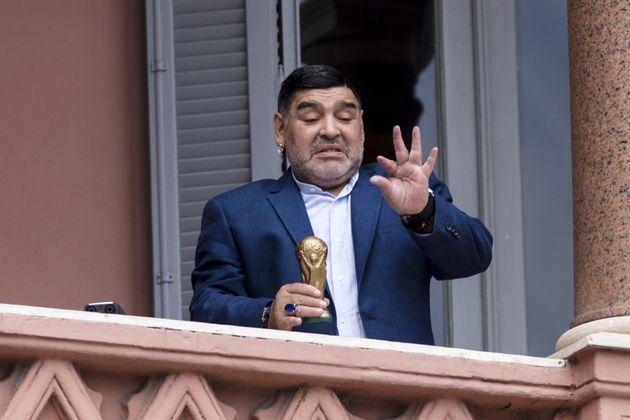 Maradona, en la Casa