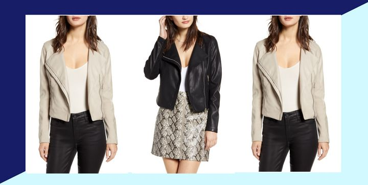 Nordstrom's Half-Yearly Sale might seem overwhelming at first, but we found a deal on a faux leather jacket that you can't miss.