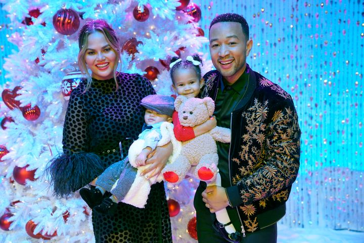 """John Legend and his family attend """"A Legendary Christmas with John & Chrissy"""" in 2018."""