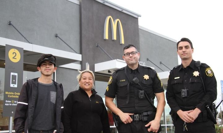 Deputies from the San Joaquin County Sheriff's Office and McDonald's employees helped a woman escape from a disturbing situat