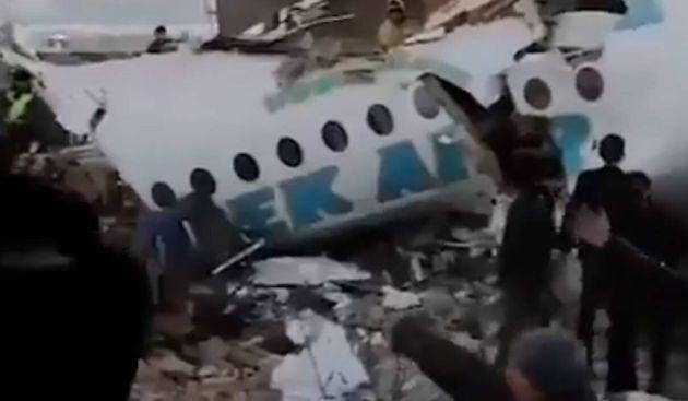 Avión estrellado en