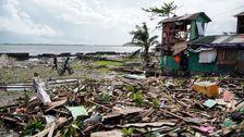 台風債権数十人の生活にフィリピン