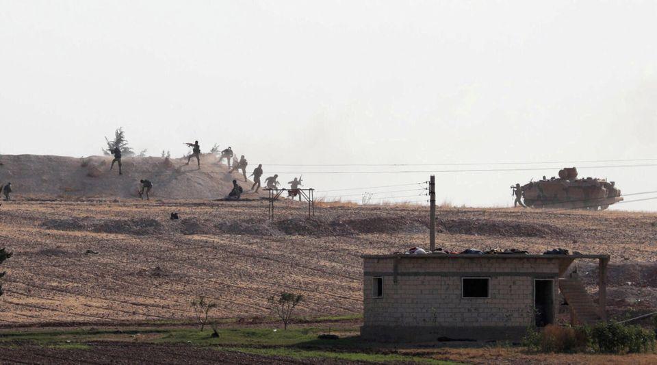 Μαχητές της Συρίας που...