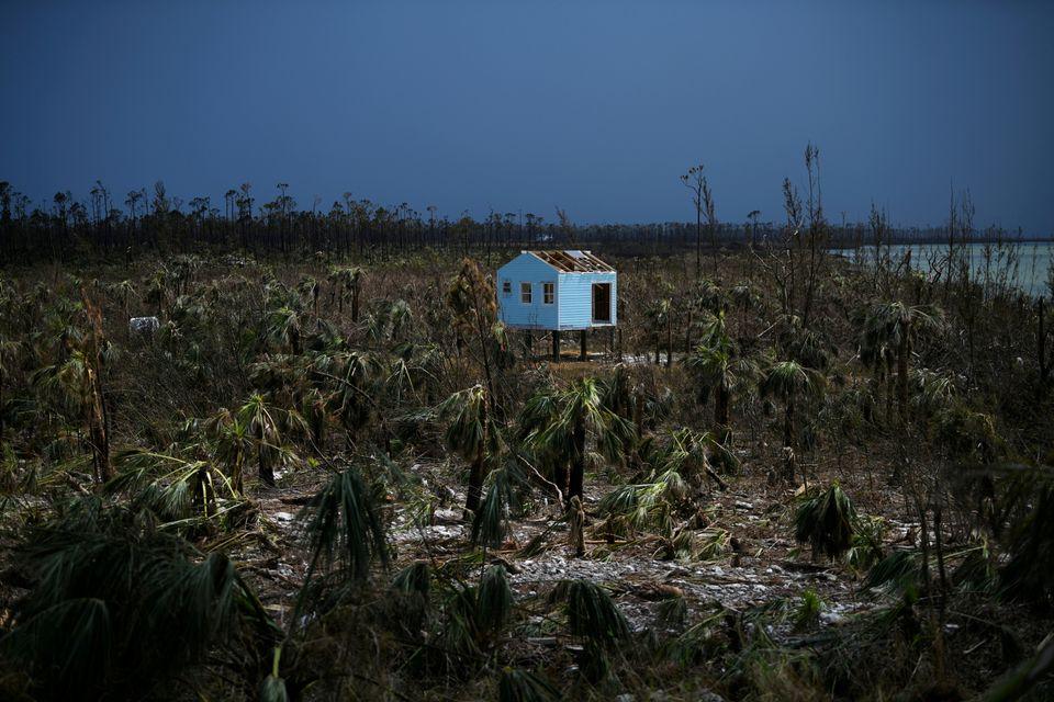 Ένα κατεστραμμένο σπίτι...
