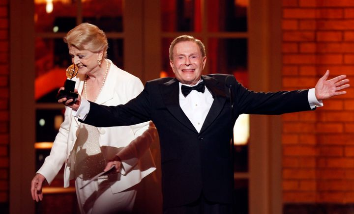 Jerry Herman accepted a Special Tony Award for Lifetime Achievement in the Theater from Angela Lansbury at the 63rd Annual To