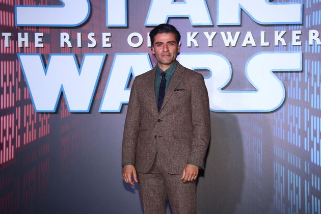 Oscar Isaac at the premiere of The Rise Of