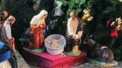 Decapitano la statua di Gesù Bambino nel presepe. La testa viene ritrovata al