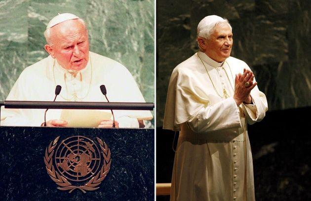 Giovanni Paolo II e Benedetto