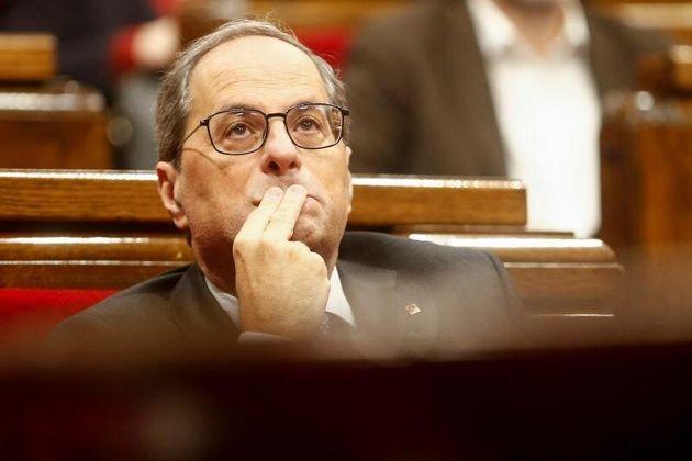 El presidente de la Generalitat de Cataluña, Quim Torra. EFE/Quique