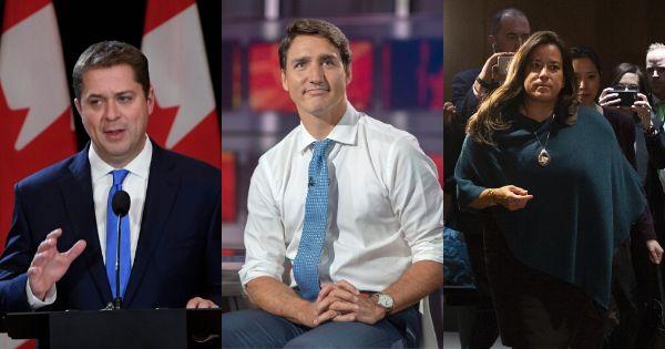 Andrew Scheer, Justin Trudeau et Jody