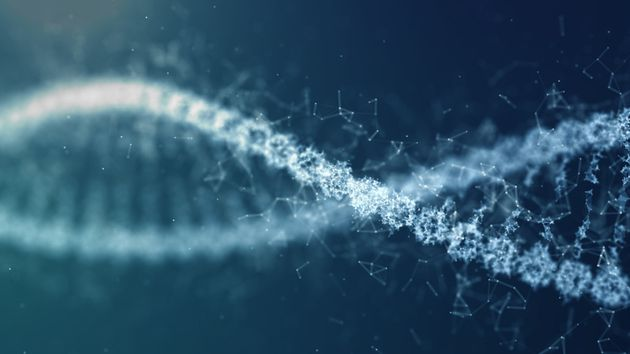illustration DNA Spin Futuristic digital background,Abstract background for Science and technology