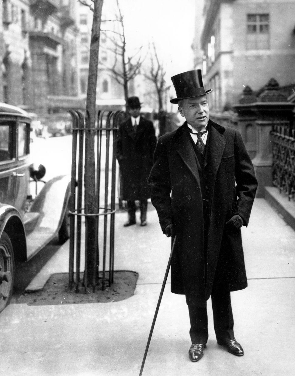 John D. Rockefeller Jr.1929. Βόλτα στην 5η Λεωφόρο(AP Photo)