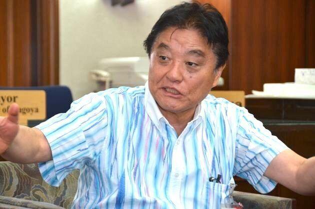 ハフポスト日本版のインタビューを受ける河村たかし名古屋市長(2019年10月7日撮影)