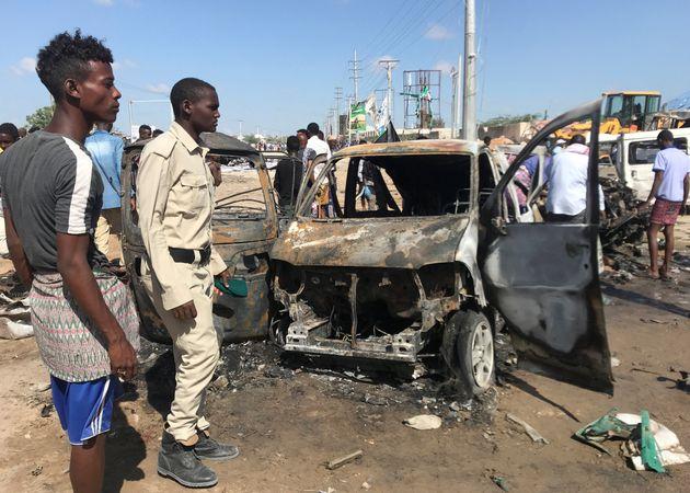 Les dégâts de l'attentat à Mogadiscio samedi 28 décembre