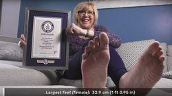 La mujer con los pies más largos y otros Récords Guinness del