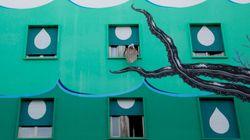 I murales di Iena Cruz gridano aiuto per il clima in