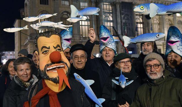 La manifestazione della sardine a