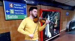 Daniel, el violinista del Metro de Madrid que arrasa en