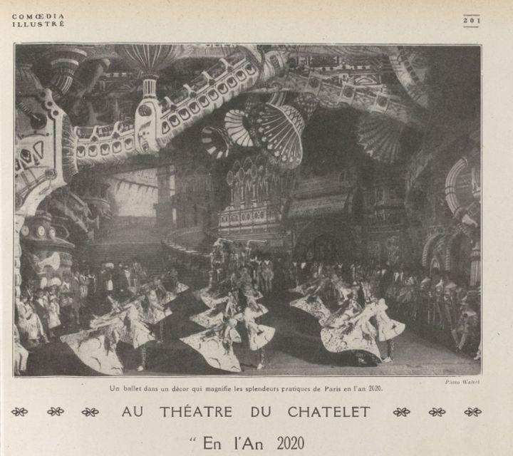 Pour «Comœdia», la pièce d'Henry de Gorsse offre «une vue de Paris de 2020, avec ses trottoirs roulants à l'infini transportant les voyageurs dans toutes les directions.»
