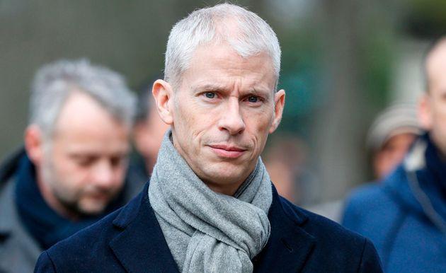 Franck Riester, ici aux obsèques d'Anna Karina le 21 décembre, a apporté son
