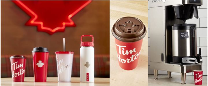 Tim Hortons' new coffee lid.
