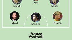 La revista 'France Football' cabrea a todos con su 'once' de la década: mira en la