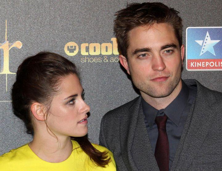 "Kristen Stewart and Robert Pattinson promote ""The Twilight Saga: Breaking Dawn - Part 2"" in Madrid in 2012."