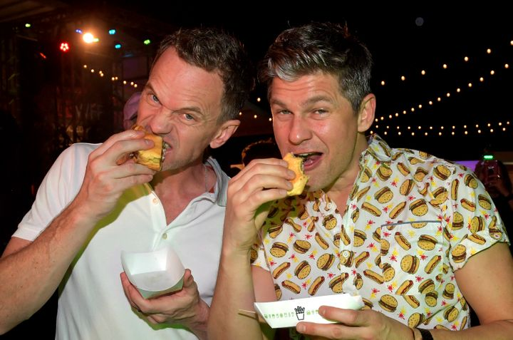 Neil Patrick Harris, left, with husband David Burtka at the South Beach Wine & Food Festival in Miami in February.