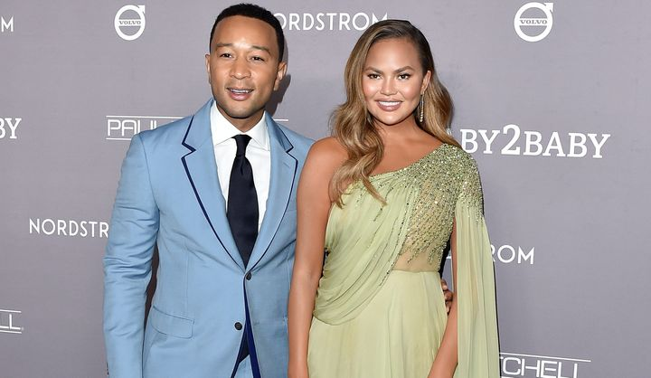 John Legend and Chrissy Teigen at the 2019 Baby2Baby gala in November.