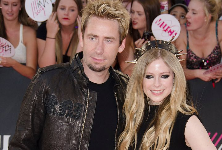 Chad Kroeger and Avril Lavigne on the red carpet at the 2013 MuchMusic Video Awards.