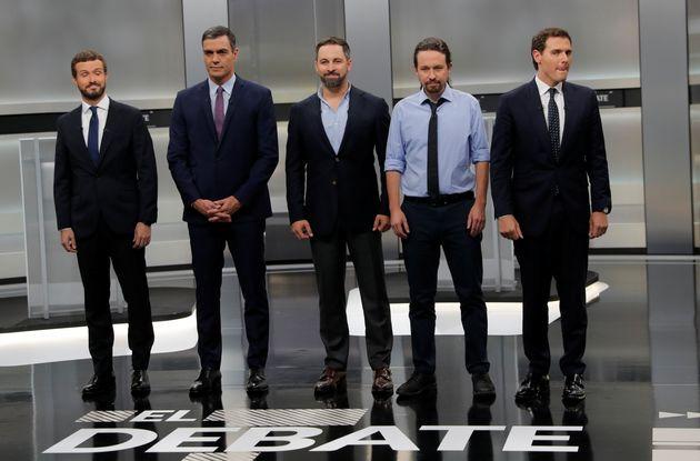 Los candidatos a la Presidencia de España en el último debate