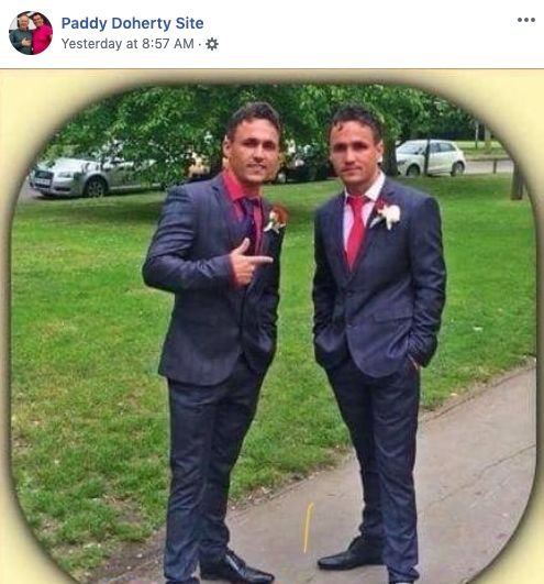 Big Brother UK star Paddy Doherty led the Facebook tributes.