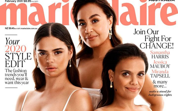 Marie Claire on sale now.