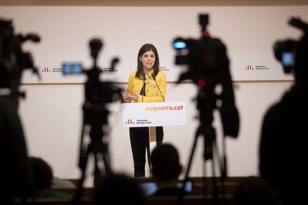 La portavoz de Esquerra Republicana de Catalunya (ERC), Marta