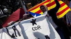 Una treintena de CDR protesta ante la sede de ERC por la negociación con el