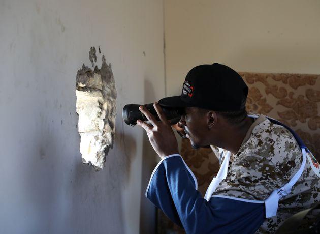 Σε κατάσταση διαρκούς πολιορκίας οι στρατιωτικές δυνάμεις που υποστηρίζουν την κυβέρνηση της Τρίπολης. Φωτογραφία αρχείου, Οκτώβριος 2019. Picture taken October 14, 2019. REUTERS/Ismail Zitouny