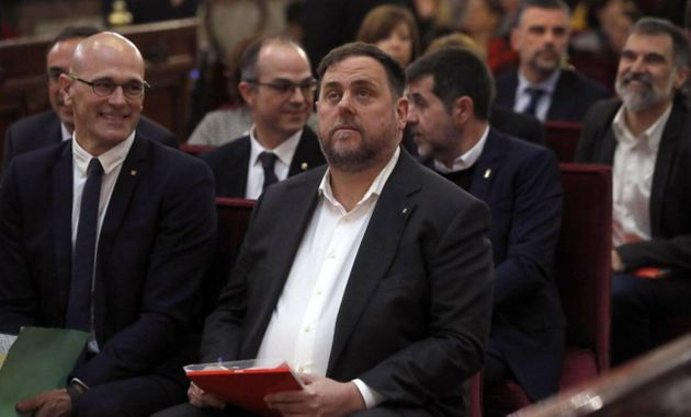El presidente de ERC, Oriol Junqueras, durante el juicio del