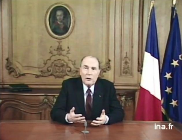 François Mitterrand prononçant ses vœux présidentiels depuis
