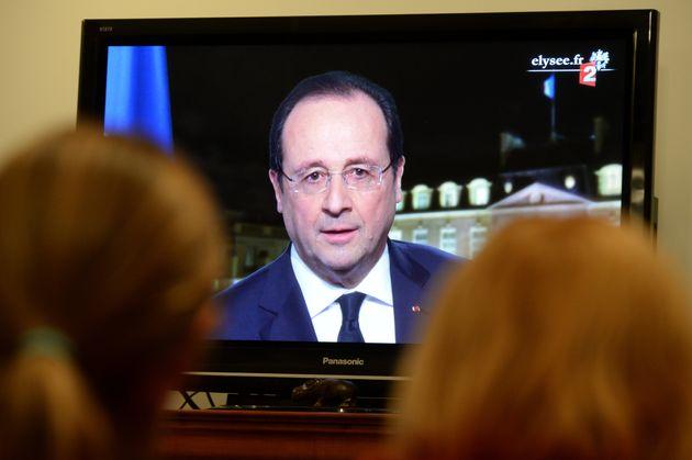 François Hollande, adressant ses vœux le 31 décembre