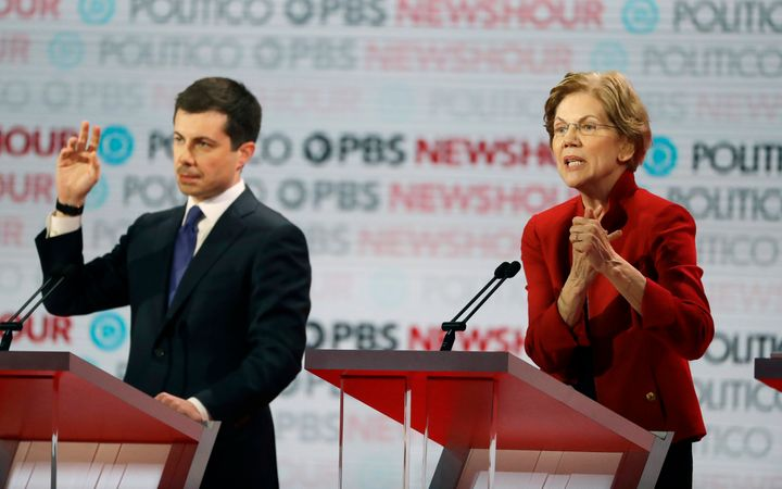 At the Democratic presidential debate earlier this month in Los Angeles, contenders Pete Buttigieg and Sen. Elizabeth Warren