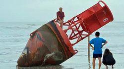 Σημαντήρας πλοήγησης βγήκε στη στεριά δύο χρόνια μετά και 483 χιλιόμετρα