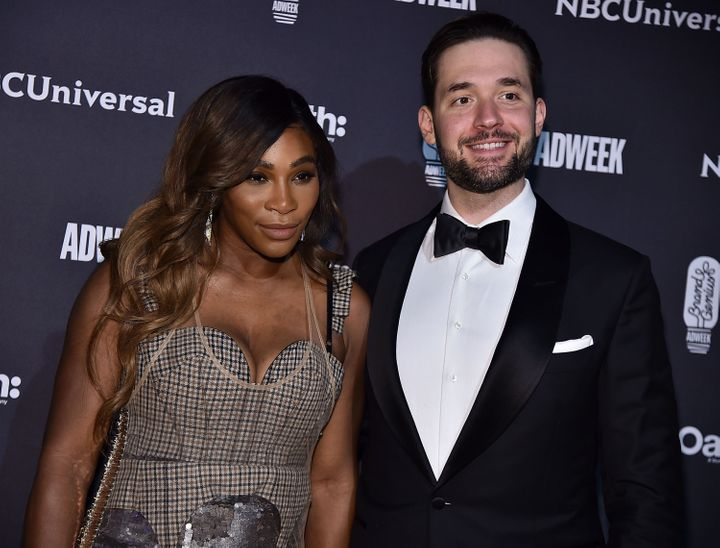 Serena Williams and Alexis Ohanian at the 2018 Brand Genius Awards in New York.