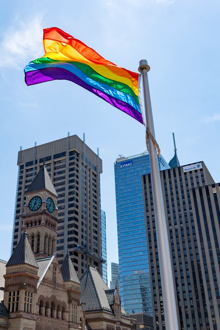 "Toronto, Montreal, Vancouver, and other Canadian city halls flew pride flags to support LGBTQ+ Russians, who could be persecuted under their country's anti-gay ""propaganda"" legislation."