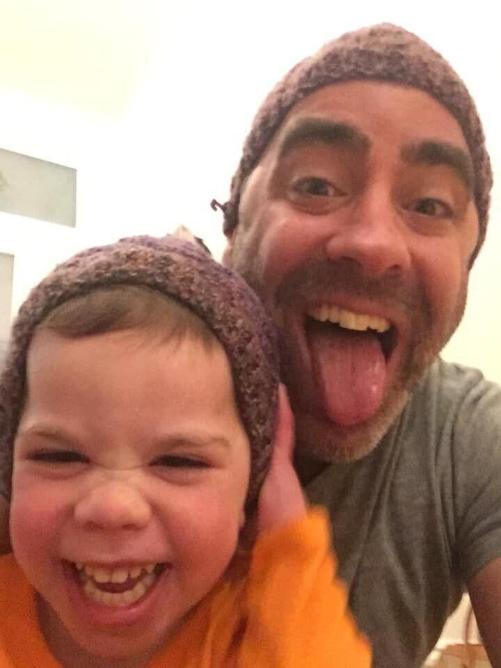 L'auteur et sa fille Clementine