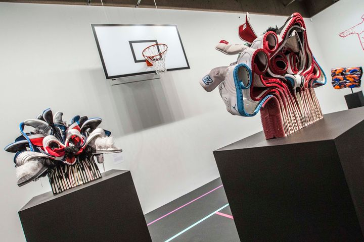 Brian Jungen's artwork at his summer exhibition at the Art Gallery of Ontario.