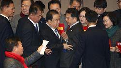 공수처법이 통과되자 자유한국당 의원들이 총사퇴를