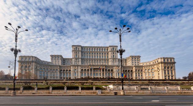 루마니아 부쿠레슈티에 있는 루마니아 의회