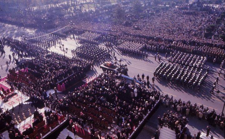 Imagen del funeral de Franco, en 1975.
