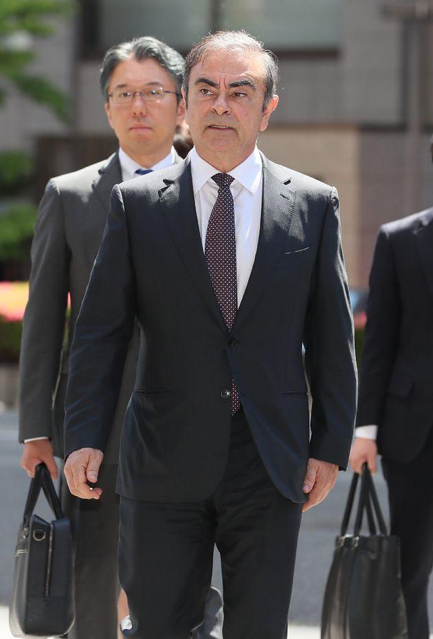 Carlos Ghosn arrives, el pasado 23 de mayo, acudiendo a una cita en los juzgados de